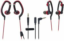 NEW Audio-Technica SonicSport In-Ear Waterproof  Headphones ATH-CKP200 RED