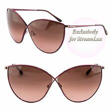 TOM FORD EVELYN Butterfly Sunglasses TF 251 69F Purple
