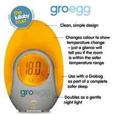 Gro Company Egg Room Thermometer Gro Egg Baby Safety IDEAL FOR NURSERY NIGHTLIGH