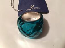 NIB $190 Swarovski Large Nirvana Indicolite Blue Ring Size 60/US 9/XL #1166791