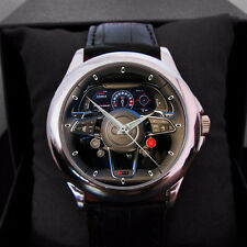 Audi Car Logo Nascar Rally Steering leather man N woman Sport Watch