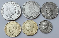 TANZANIA 6 DIFF. COINS RARE COLLECTION