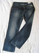 Replay Damen Blue Jeans Denim Baggy W28/L32 extra low waist loose fit wide leg