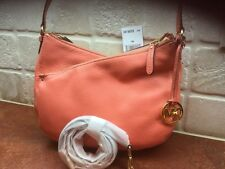 Michael Kors Lea Medium Convertible Shoulder Pink Grapefruit Leather NWT