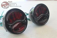 Ford Model A Hot Rat Street Rod Custom Car Truck Stop Lens Black Tail Lights