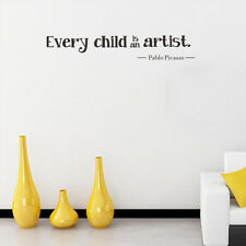 Every child is an artist Removable Vinyl Decal Home Decor Sticker Lettering Art