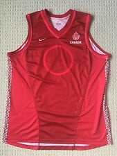 Nike Team Canada Basketball Authentic Red Jersey Sz XL nash wiggins