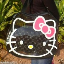 Hello Kitty Black Clear Beach Tote Bag with Cosmetic Zipper Bag KK540