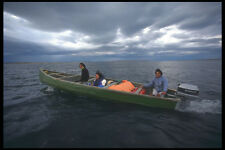 606014 Inuit Traveling By Powered Canoe A4 Photo Print