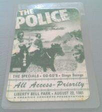 1981 8/22 THE POLICE & THE GOGOS ALL ACCESS-PRIORITY BACKSTAGE PASS