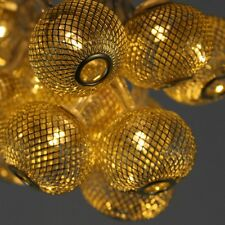 Gold Lantern - 16 LED Indoor String Light Chain - Battery Powered