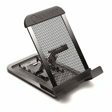 Rolodex Mobile Device Mesh Stand - Vertical, Horizontal - Metal - 1 Each - Black