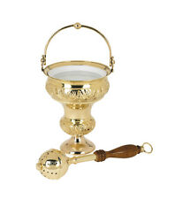 Brass Ornate Holy Water Pot with Sprinkler Set - Free Shipping