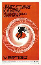 Encadré retro movie poster – vertigo (réplique imprimé photo cinema film art)