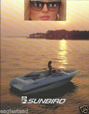 Boat Brochure - Sunbird - Product Line Overview - 1994  (SH33)