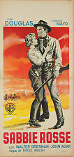 LOCANDINA, SABBIE ROSSE Along the Great Divide DOUGLAS, WESTERN MOVIE POSTER