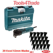 Makita TM3010CK Oscillating Multi-Tool Quick Change + 20 Excel 52mm Blades 240V