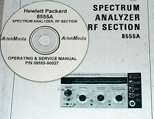 HP 8555A OPERATING &  SERVICE MANUAL  (oem copy)