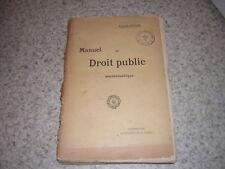 1898.manuel de droit public ecclésiastique / François Verdier