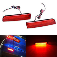 Red Lens LED Bumper Reflectors For Mitsubishi Lancer Taillight Brake Lamps