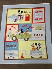 DISNEYS MICKEY MOUSE TRANSPORT QUILT PANEL SPECIAL OFFER £10! 100% COTTON