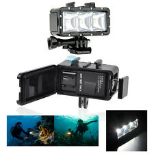 Waterproof Underwater Diving 3 LED Video Light w/ Battery For Gopro Hero 4 3+ 2