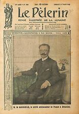 Portrait Pierre de Margerie Ambassadeur de France Bruxelles 1919 ILLUSTRATION