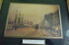 Framed Print.The Old Custom House, Liverpool, Looking North by Atkinson Grimshaw