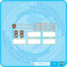 Merlin Racing cicli (UK) Decalcomanie Bicicletta Trasferimenti Adesivi-Set 1