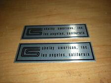 1966 SHELBY COBRA MUSTANG GT350 GT-350 OR HERTZ DOOR SILL PLATE EMBLEMS PAIR NEW