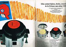 PUBLICITE ADVERTISING 1968 SEB friteuse éléctrique ( 2 pages)  260713