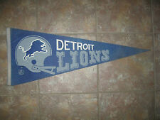 "1970's DETROIT LIONS football pennant FULL Size 30""x12"" - owned by Disney"