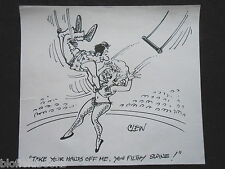"""Clifford C Lewis """"Clew"""" Original Pluma Y Tinta De Dibujos Animados-Saucy, Sexy Acrobat #66"""