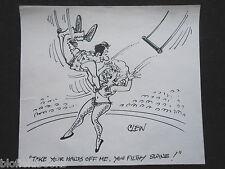 "CLIFFORD C LEWIS ""CLEW"" Original Pen & Ink Cartoon - Saucy, Sexy Acrobat #66"