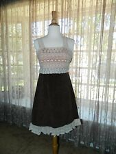"*NWT!* "" Stunning Anthropologie Zeharvale Brown & Ivory Lace Dress"" Size 2"