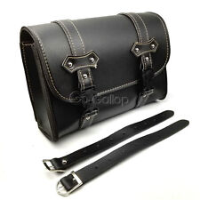 Motorcycle Tool Bag Luggage PU Leather Storage Saddlebag For Harley Touring