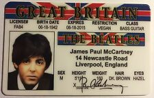 Paul McCartney - Drivers License - ID Card - Novelty - The Beatles