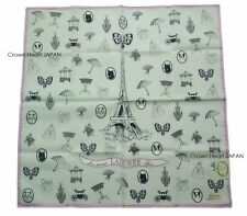New Laduree Paris Handkerchief / Mini Scarf L.Green Eiffel Tower Charm Japan