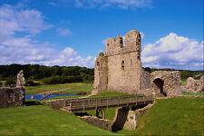 555026 Ogmore Castle Bridgend South Wales A4 Photo Print