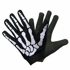 Xelement Mechanical Textile Fabric Skeleton Hand Motorcycle Gloves Large