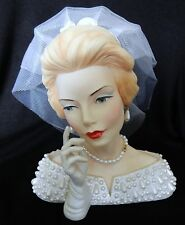 "New Cameo Girls Deluxe Blythe 1960 ""ROYAL WEDDING"" Lady Head Vase LV-039 Mint"