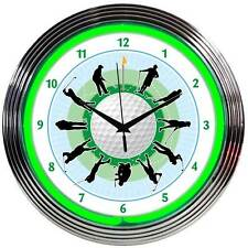 Golf Neon Clock 8GOLFR Tee Time w/ FREE Shipping