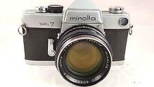 Vintage Minolta SR-7 35mm SLR Film Camera w/AUTO ROKKOR-PF 58mm F1.4 lens