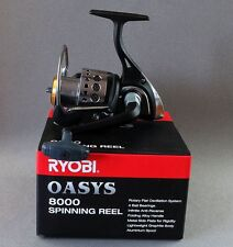 Ryobi OASYS 8000 Spinning Reel Metal Side Plate 4BB Holds 215 Yds of 25lb 23225
