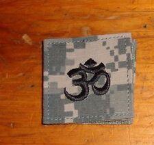 ARMY PATCH,HINDU CHAPLAIN,RANK TAB , ACU, W/VELCR