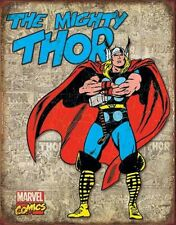 Mighty Thor RETRO COVER PANELS marvel TIN SIGN metal poster vtg superheroes 1889