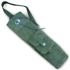 TRADITIONAL SUEDE LEATHER BACK ARROW QUIVER AQ150S GREEN