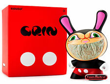 "Apocalypse Grin - Ron English 8"" Dunny Black / Red Mickey Variant by Kidrobot"