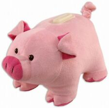 Pig Plush Coin Bank NEW Toys Soft Stuffed Plushie Puzzled Savings Animal