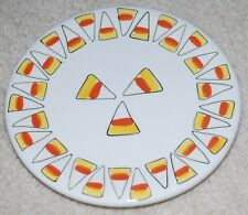 "Halloween Plate Bath & Body Works Ceramic 6"" Candle Holder Fall 1999 Candy Corn"
